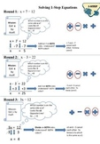 Solving 1-Step Equations Guide Sheet