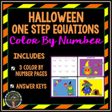 Solving 1-Step Equations: Halloween Color By Number