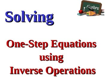 Solving 1-Step Equations Instructional PowerPoint