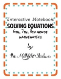 Solving 1 Step Equations Interactive Notebook Activities: FREEBIE!