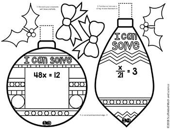 Solving 1-Step Equations Ornaments