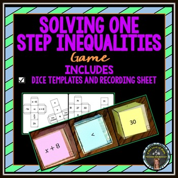 Solving 1-Step Inequalities: Cube Game