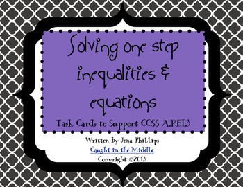 Solving 1 Step Inequalities and Equations