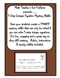 Solving 1-Step Integer Equations: A Spooky Mystery Riddle Mini-Project