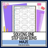Solving 1-step Equations Maze