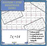 Solving 1 step equations math bingo (no negatives)