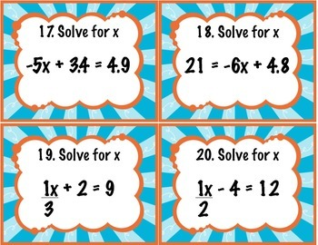 Solving 2 Step Equations 7.EE.1, 8.EE.7