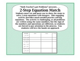 Solving 2-Step Equations: A Cut,Paste & Match Activity  7.EE.4