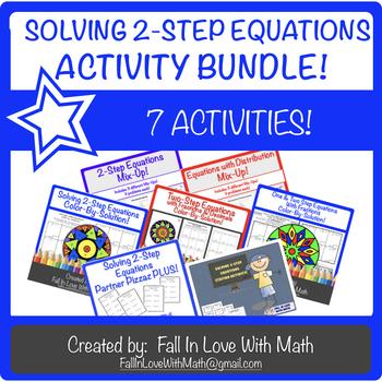Solving 2-Step Equations Activity Bundle!