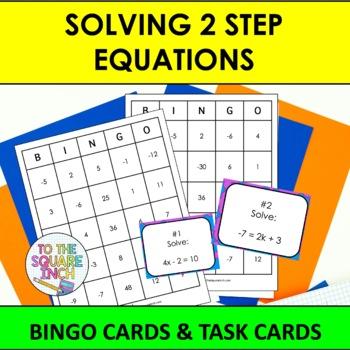 Solving 2 Step Equations Bingo