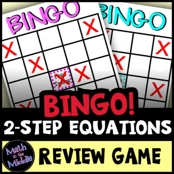 Solving 2-Step Equations Bingo - Math Review Game