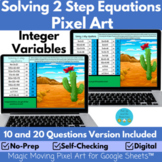 Solving 2 Step Equations Pixel Art Mystery Picture   Posit