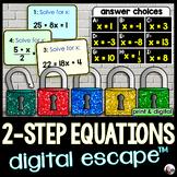 Solving 2-Step Equations Digital Math Escape Room