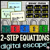 Solving 2-Step Equations Digital Math Escape Room