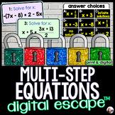 Solving Multi-Step Equations Digital Math Escape Room