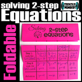 Solving 2-Step Equations Foldable Notes Interactive Notebook