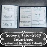 Solving 2-Step Equations & Inequalities w/ Number Lines INB TEKS 7.10B