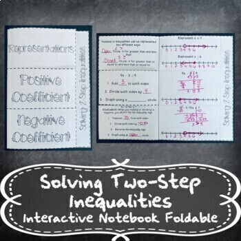 Solving 2-Step Equations & Inequalities w/ Number Lines INB TEKS 7.10B