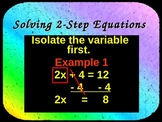 Solving 2-Step Equations Instructional PowerPoint
