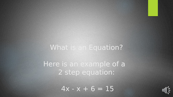 Solving 2 Step Equations Powerpoint