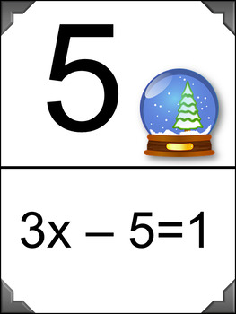 Solving 2-Step Equations - Scavenger Hunt- Christmas Theme
