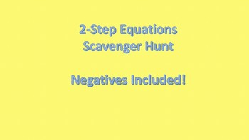Solving 2-Step Equations Scavenger Hunt - with Negatives