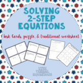 Solving 2-Step Equations:  28 Task Cards, Puzzle, and Assignment