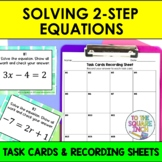 Solving 2 Step Equations Task Cards