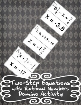 Solving 2-Step Equations with Rational Numbers Domino Activity