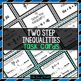 Two Step Inequalities: 30 Task Cards