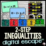 Solving 2-Step Inequalities Digital Math Escape Room