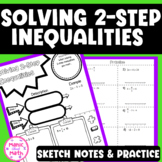 Solving 2-Step Inequalities Doodle Notes