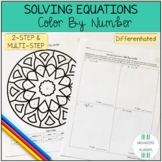 Solving 2-Step & Multi-Step Equations Differentiated Color