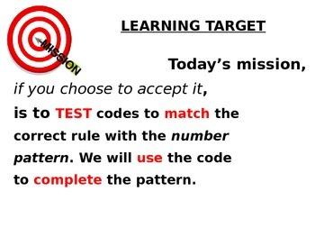 Solving 2 Step Number Patterns - Secret Agent Style