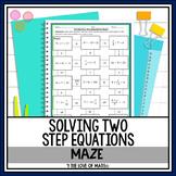 Solving 2-step Equations Maze