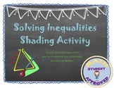 Solving 2 step Inequalities Fun Puzzle with or without Partner