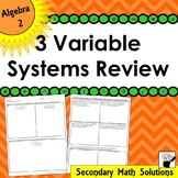 Solving 3-Variable Systems Review