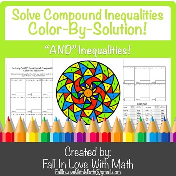 """Solving """"AND"""" Compound Inequalities Color-by-Number!"""