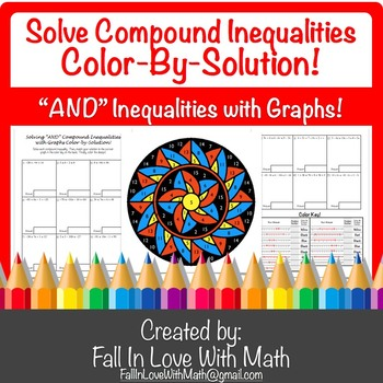 """Solving """"AND"""" Compound Inequalities with Graphs Color-by-Number!"""