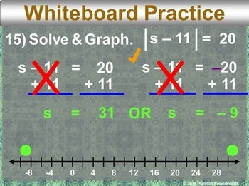 (Alg 1) Solving Absolute Value Equations in a PowerPoint Presentation