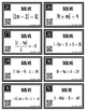 Solving Absolute Value Equations ALGEBRA Task Cards with QR codes