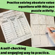 Solving Absolute Value Equations - All-in-One Bundle - Activities and more!