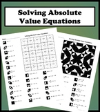 Solving Absolute Value Equations Color Worksheet
