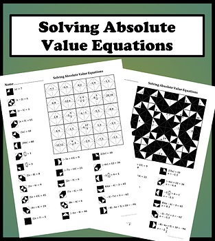 Solving Absolute Value Equations Color Worksheet By Aric Thomas Tpt