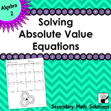 Solving Absolute Value Equations Coloring Activity (2A.6E)