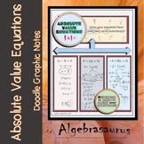 Solving Absolute Value Equations Doodle Notes or Graphic O