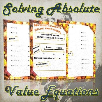 Solving Absolute Value Equations (Guided Notes & Practice)