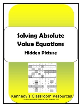 Solving Absolute Value Equations - Hidden Picture