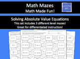 Solving Absolute Value Equations Math Maze