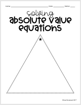 Solving Absolute Value Equations (Mini Puzzle)